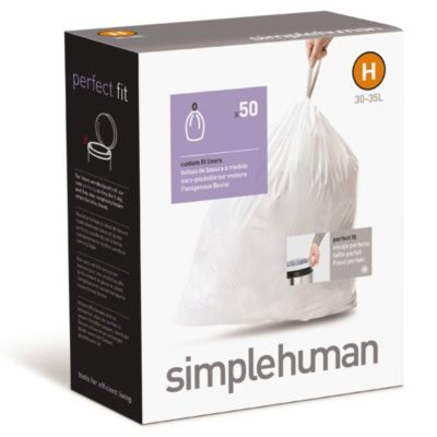 simplehuman® 20-Pack Code H Custom Fit 50-Pack 30-Liter Can Liners
