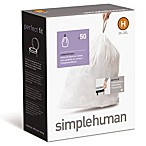 simplehuman® 50-Pack Code H Custom Fit 30-Liter Can Liners