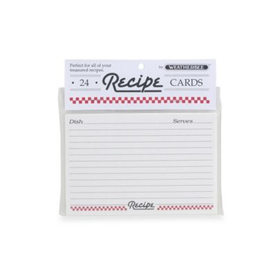 Weatherbee 24-Count Recipe Cards Refill