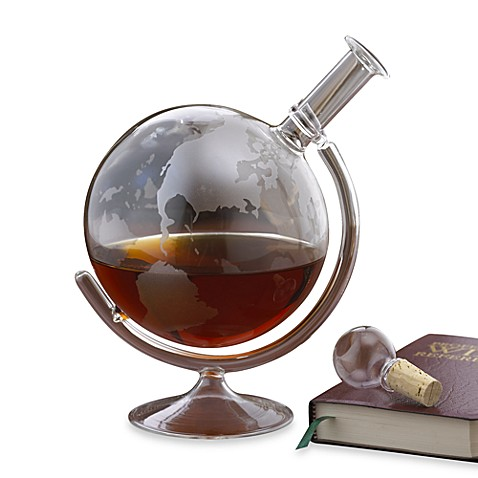 Buy wine enthusiast etched globe spirits decanter from for Wine carafes and decanters
