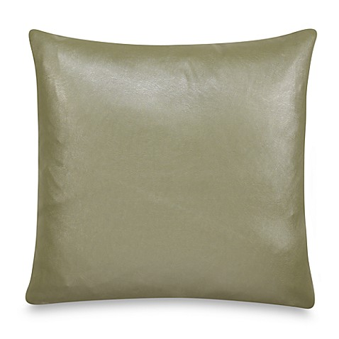 Nicole Miller Home Decorative Pillows : Nicole Miller Lexington Faux-Leather Square Throw Pillow - Bed Bath & Beyond