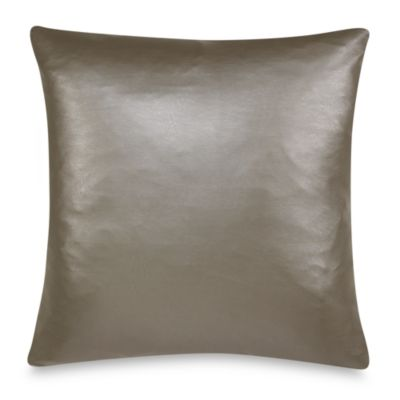 Nicole Miller® Lex in gton Faux-Leather Square Toss Pillow