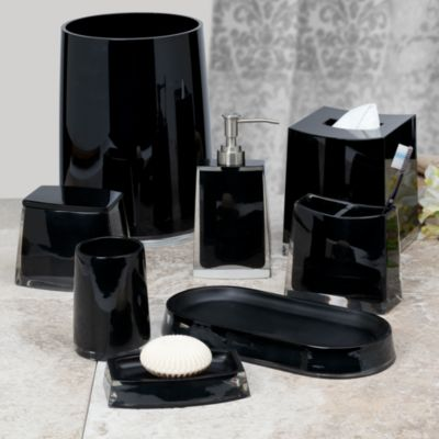 Architectural Black Bath Waste Basket