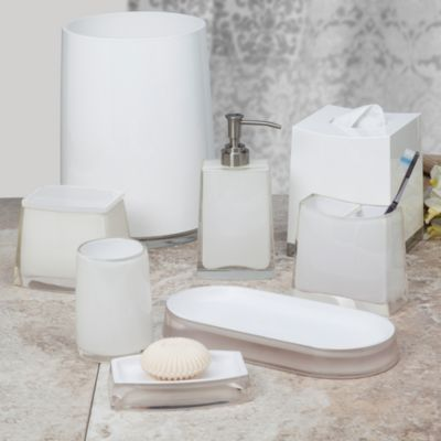 Architectural White Bath Waste Basket