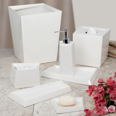Angles Contemporary Bath Waste Basket