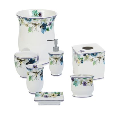 Bouquet Ceramic Toothbrush Holder