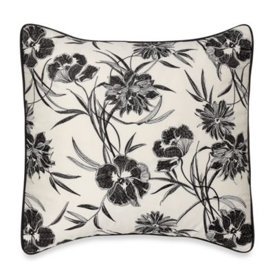 Onyx Floral Square Toss Pillow