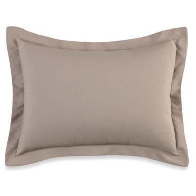 Diamond Matelassé European Pillow Sham in Taupe