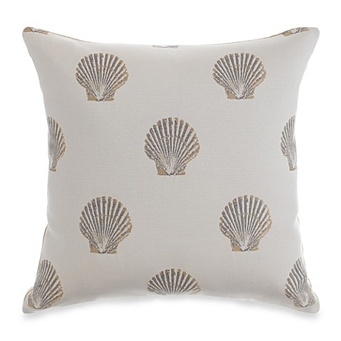 Clearwater Sand Dollar Square Toss Pillow