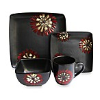 American Atelier Camile Red & White 16-Piece Dinnerware Set