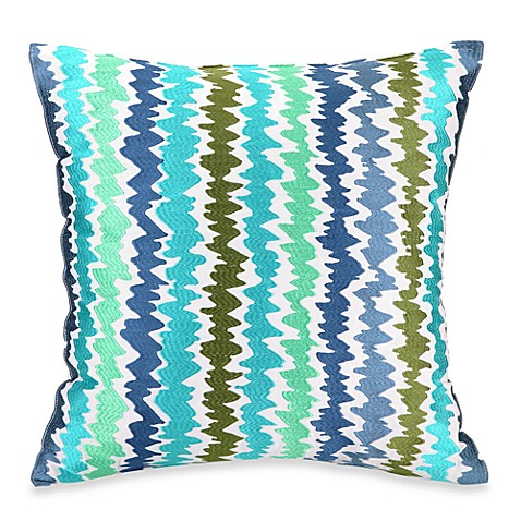 Trina Turk® Tropical Floral Ikat Stripe 20-Inch Square Toss Pillow