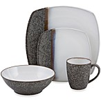 Sango Satin Black 16-Piece Dinnerware Set