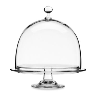 Luigi Bormioli Crescendo 10-Inch Cake Plate With Dome Cover