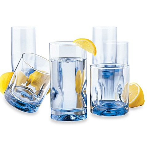 Dailyware™ Impressions Misty Blue 16-Piece Beverage Set
