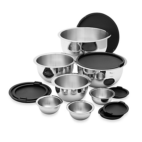 Wolfgang Puck® Stainless 14-Piece Steel Mixing Bowl Set with Covers