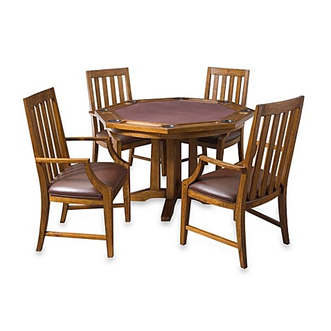 Home Styles Arts & Crafts 5-Piece Game Table Set