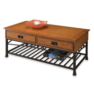 Home Styles Modern Craftsman Coffee Table in Oak