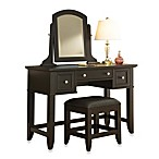 Home Styles Bedford Vanity Table and Bench in Black