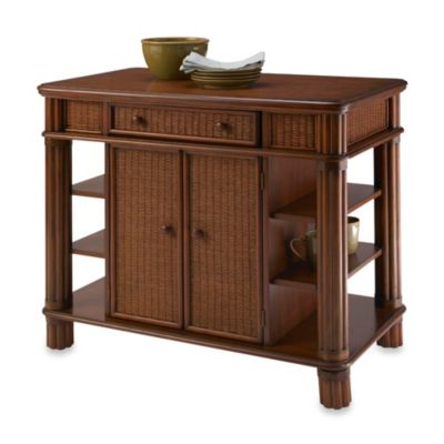 Home Styles Marco Kitchen Island in Palm Mahogany Finish