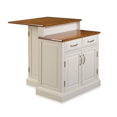 Woodbridge Two-Tier Kitchen Island in White