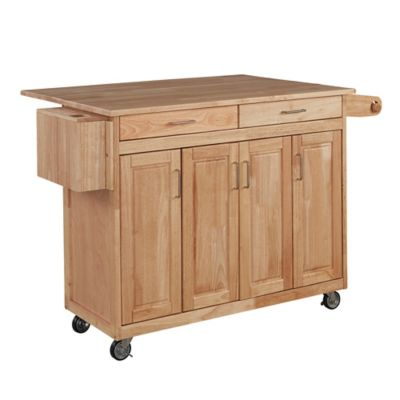 Wood Top Kitchen Carts