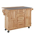 Home Styles Natural Wood Breakfast Bar Kitchen Cart