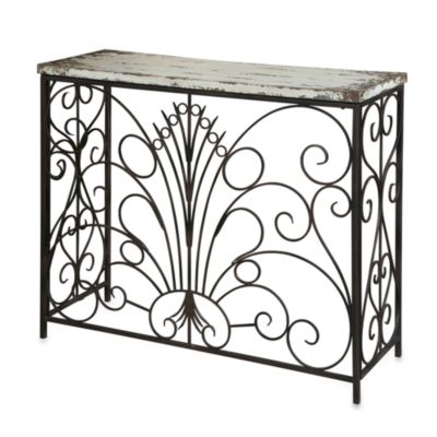 Powell Console Table in Parcel White