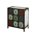 Powell® 9-Drawer Console in Parcel Cinnamon