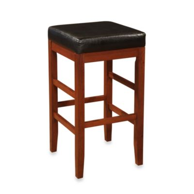 Cherry Square Backless Bar Stool