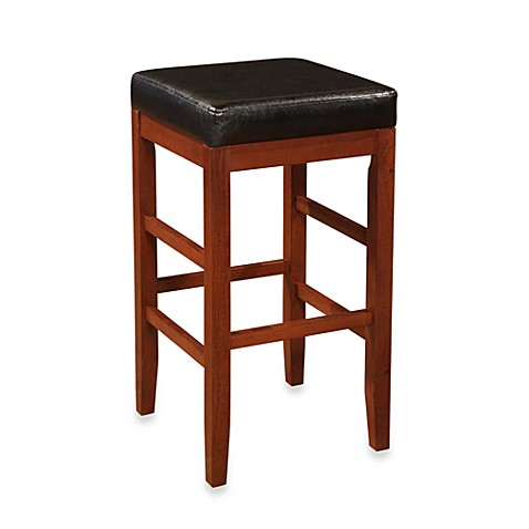 Cherry Square Backless Barstool