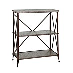 Foundry Antique Pewter 3-Shelf Bookcase