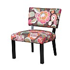 Floral Accent Chair in Pink and Brown