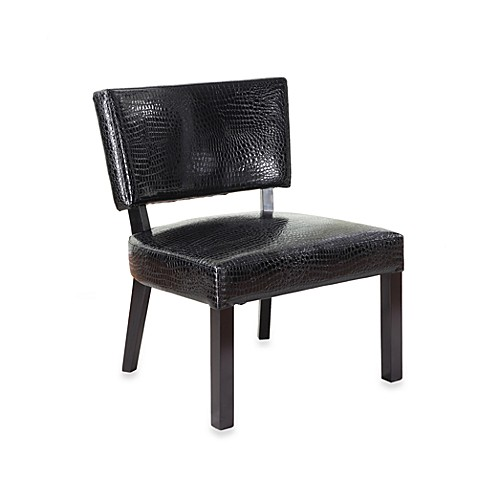 Powell Faux Leather Accent Chair in Crocodile Print