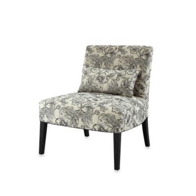 Powell® Lila Armless Chair with Floral in Black and White
