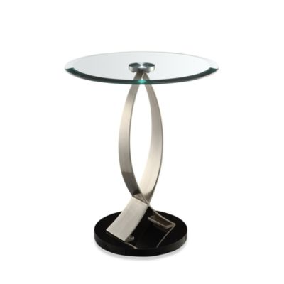 Powell® Chairside Table in Chrome