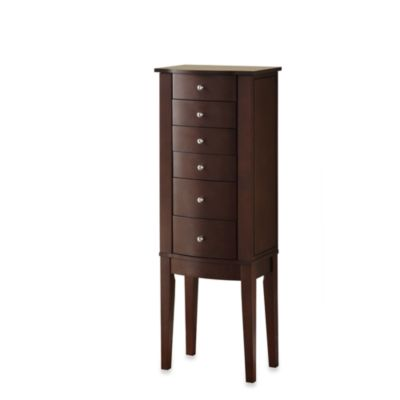 Powell® Jewelry Armoire in Merlot