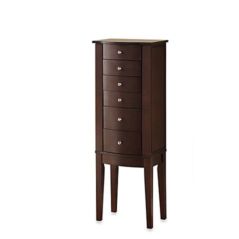 Powell Jewelry Armoire in Merlot