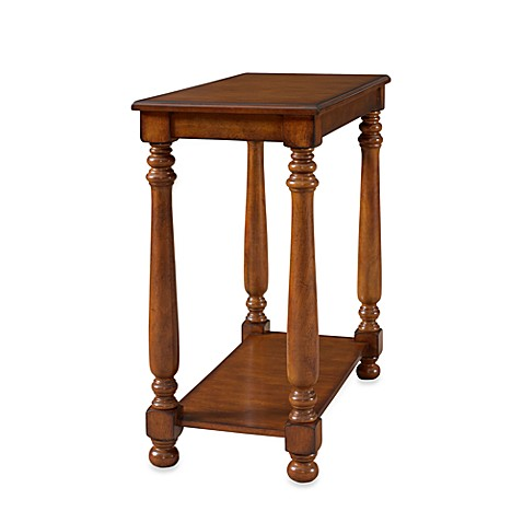 Warm Cherry Rectangle Chairside Table