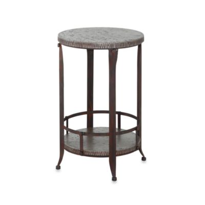 Foundry Antique Pewter Round Accent Table