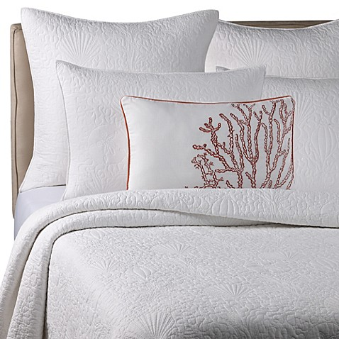Solid Seashell White King Pillow Sham