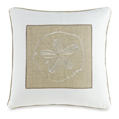 Solid Seashell White Square Toss Pillow