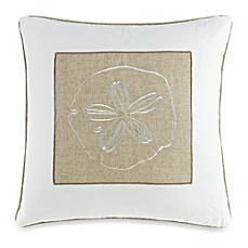 Solid Seashell White Square Throw Pillow