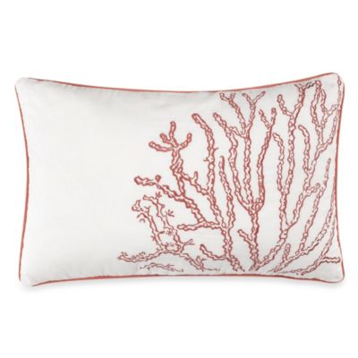 Solid Seashell White Oblong Toss Pillow