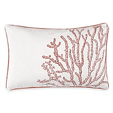 Solid Seashell White Oblong Throw Pillow