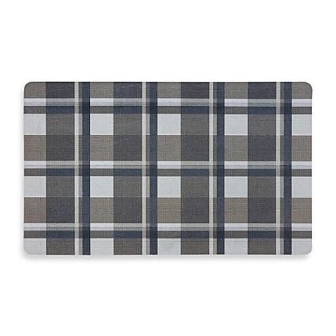 Comfort Kitchen Mat In Plaid Bed Bath Beyond
