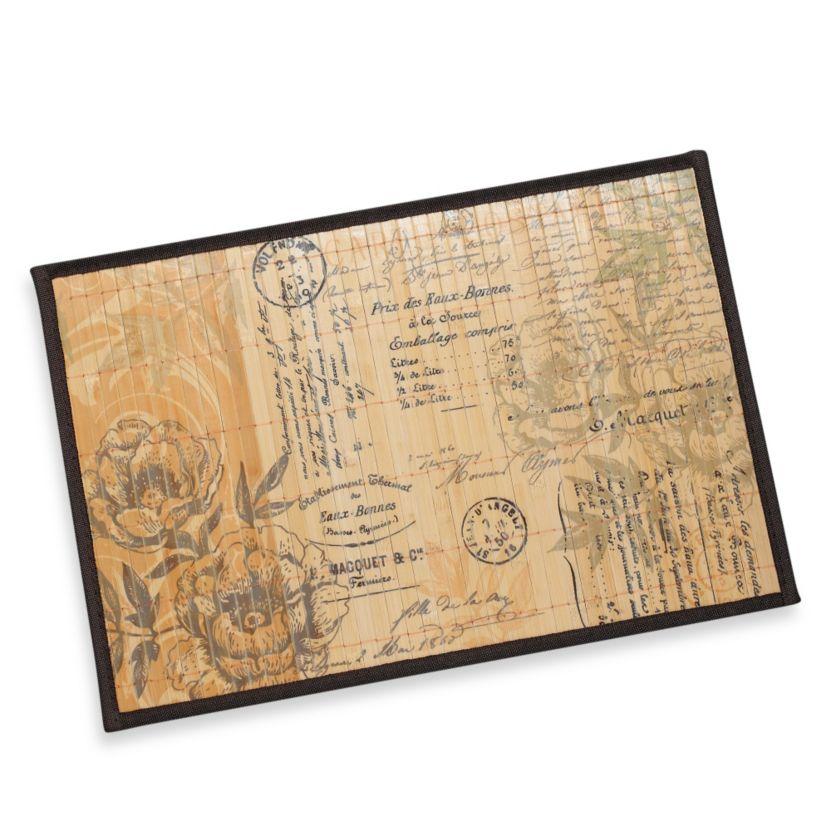 Bamboo Floral Postcard Placemat