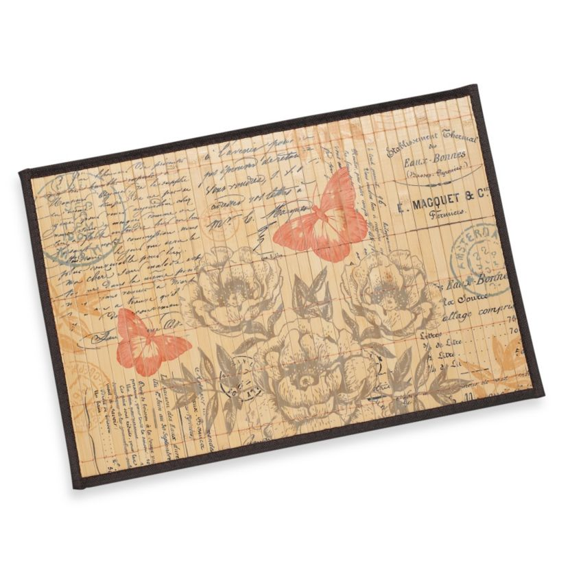 Bamboo Coral Butterfly Postcard Placemat