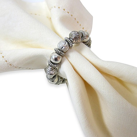Bijou Silver Accented Napkin Ring