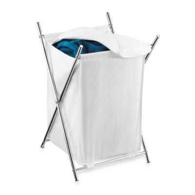 Honey-Can-Do® Folding X-Frame Single Hamper in Chrome