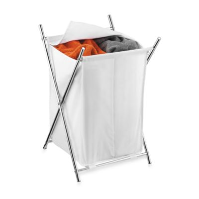 Honey-Can-Do Chrome Folding X-Frame Double Hamper